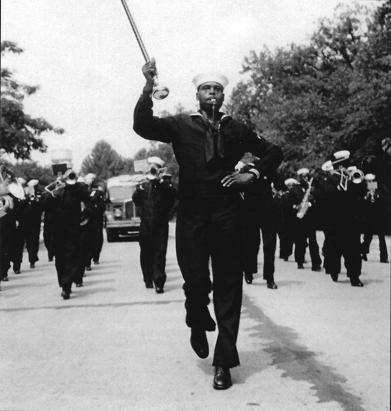 US Navy B-1 Band in a parade